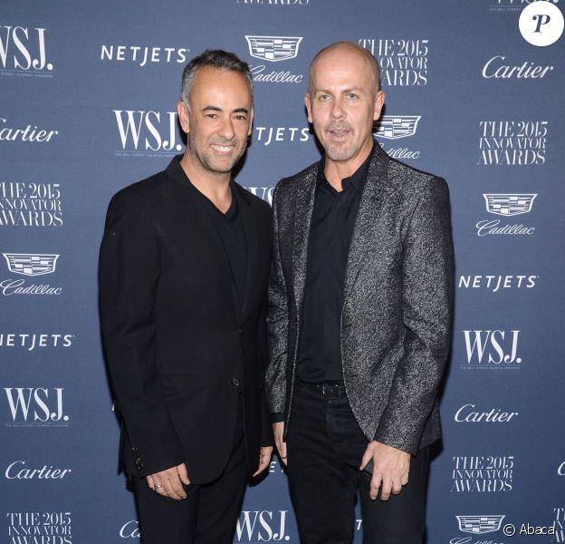 Francisco Costa et Italo Zucchelli à New York, le 4 novembre 2015.