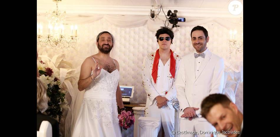 Exclusif  Mariage de Cyril Hanouna avec Camille Combal dans la Little  White Wedding Chapel de