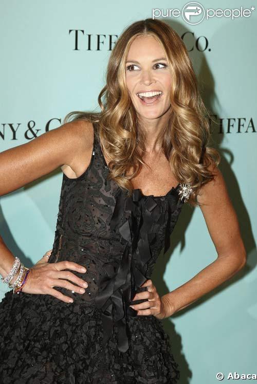 Elle Macpherson à l'inauguration de la boutique Tiffany & Co, à Madrid, le 28/10/08