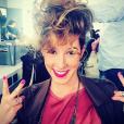 La comédienne de Plus belle la vie, Léa François. Avril 2016.