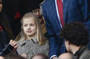 Leonor, princesse des Asturies : 1re soirée foot avec son papa le roi Felipe VI