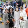 La princesse Anita, la princesse Annette, la princesse Aimée et la princesse Marilène lors de la Fête du Roi le 27 avril 2016 à Zwolle pour les 49 ans du roi Willem-Alexander des Pays-Bas.