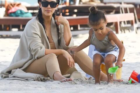 Kim Kardashian et North : Journée plage et mode, craquantes sous le soleil !