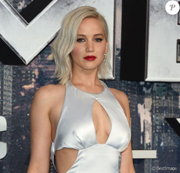 """Jennifer Lawrence - Avant-première du film """"X-Men: Apocalypse"""" à Londres le 9 mai 2016."""