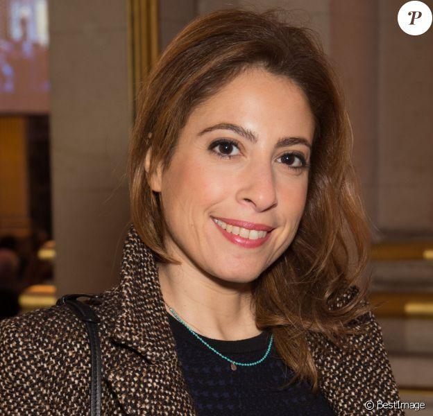 Léa Salamé - 21e Cérémonie des Lauriers de la Radio et de la Télévision à l'Hôtel de Ville de Paris le 8 février 2016.