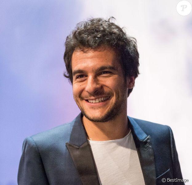 Le chanteur Amir Haddad, candidat pour la France, lors de la conférence de presse du concours de l'Eurovision à Stockholm, en Suède, le 8 mai 2016.