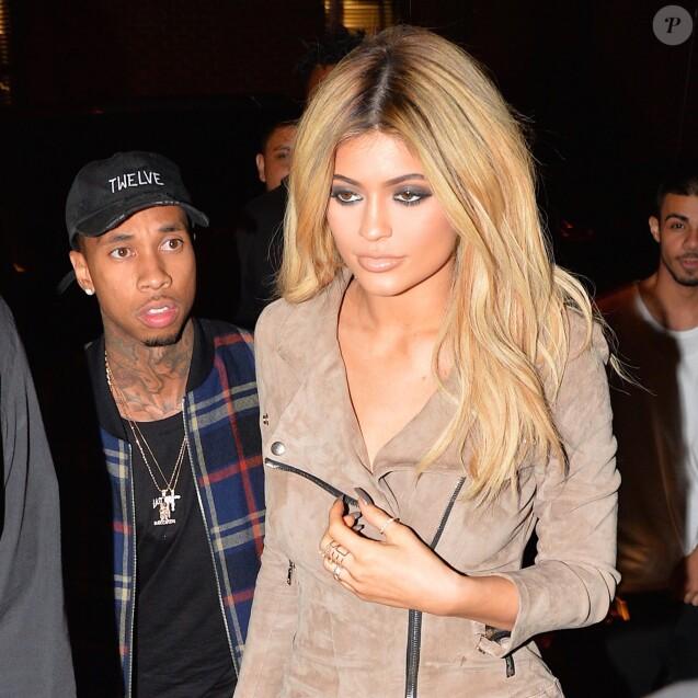 Kylie Jenner et Tyga - Célébrités à New York durant la fashion week le 13 septembre 2015 © CPA / Bestimage