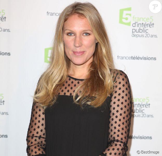 L'animatrice Agathe Lecaron - Soirée du 20e anniversaire de France 5 à la Cité de la mode et du design à Paris, le 27 novembre 2014.