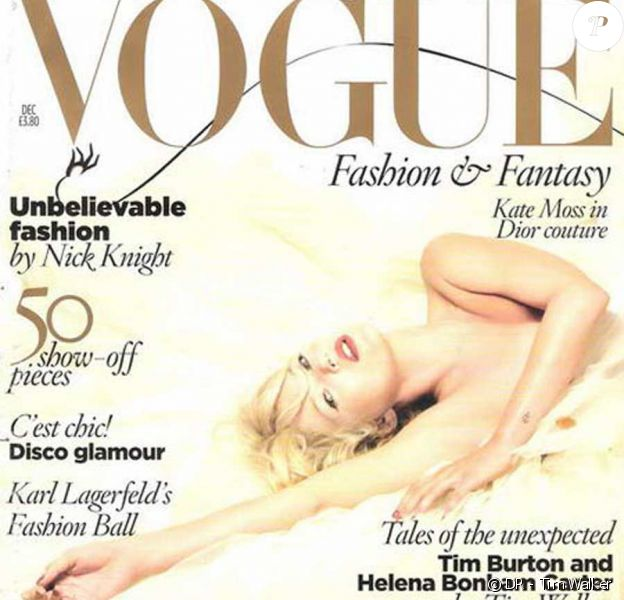 Kate Moss en couverture de Vogue