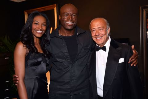 "Seal : Star d'un showcase privé ""De Grisogono"" devant la bombe Sharam Diniz"