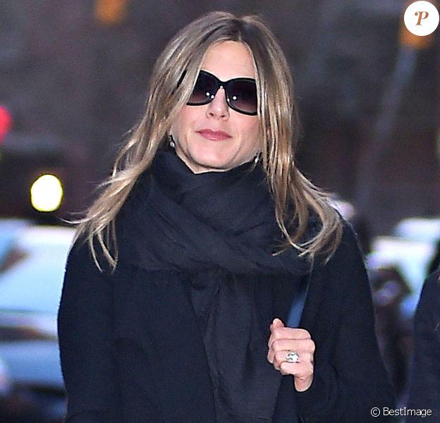 Jennifer Aniston à New York le 27 avril 2015