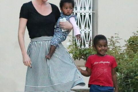 Charlize Theron : Au naturel avec ses deux enfants pour une sortie anniversaire