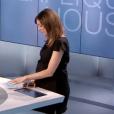 """Marie-Ange Casalta enceinte dans le """"19:45"""" sur M6. Le 31 mai 2016."""