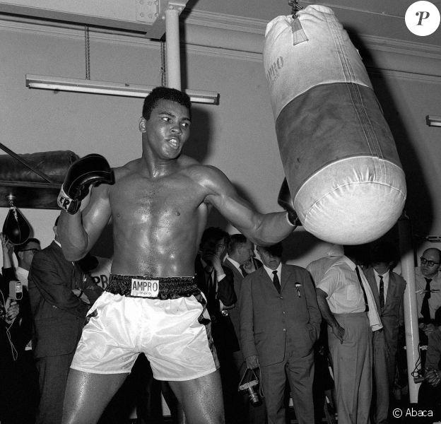 Muhammad Ali à Howden, au Royaume-Uni. Juillet 1966.