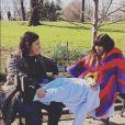 """Lou Doillon et Arianne Phillips sur le tournage de la série """"The Myth of Orpheus and Eurydice"""" pour Gucci à Central Park. New York, avril 2016."""