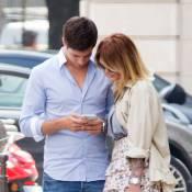 Caroline Receveur et Valentin : Amoureux et câlins dans les rues de Paris !