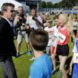 "Le prince Frederik de Danemark assiste à l'inauguration de la ""School Olympics"" au stade Osterbro à Copenhague le 7 juin 2016"