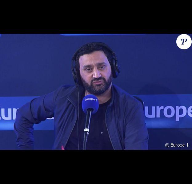 """Cyril Hanouna lors de la dernière des """"Pieds dans le plat"""" sur Europe 1. Le 9 juin 2016."""