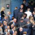 Le prince Daniel de Suède et Helena Seger, femme de Zlatan Ibrahimovic, présente avec leurs enfants, ont assisté au match Suède - Irlande au Stade de France pendant l'Euro 2016 le 13 juin 2016. © Cyril Moreau / Bestimage