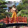 Rendez-vous avec Sonia Rolland dans le Jardin Japonais de Monaco lors du 56ème Festival de télévision de Monte-Carlo, le 13 juin 2016. © Pool Festival TV Monaco/Bestimage13/06/2016 - Monte-Carlo