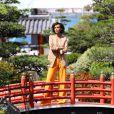 Rendez-vous avec Sonia Rolland dans le Jardin Japonais de Monaco lors du 56ème Festival de télévision de Monte-Carlo, le 13 juin 2016. © Pool Festival TV Monaco/Bestimage
