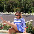 Rendez-vous avec l'actrice Marilou Berry à la Roseraie Princesse Grace lors du 56ème Festival de télévision de Monte-Carlo, le 13 juin 2016. © Pool Festival TV Monaco/Bestimage