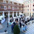 Vue du cocktail organisé le 14 juin 2016 dans la cour du palais princier en marge du 56e Festival de Télévision de Monte-Carlo. © Pool Festival TV Monaco / BestImage