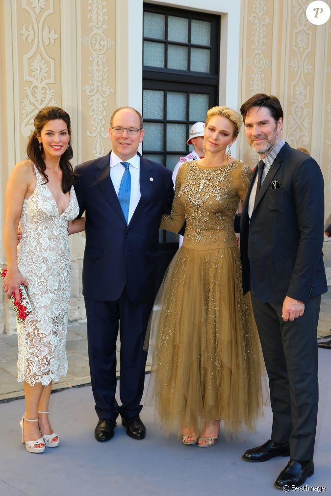 la princesse charlene et le prince albert de monaco avec. Black Bedroom Furniture Sets. Home Design Ideas
