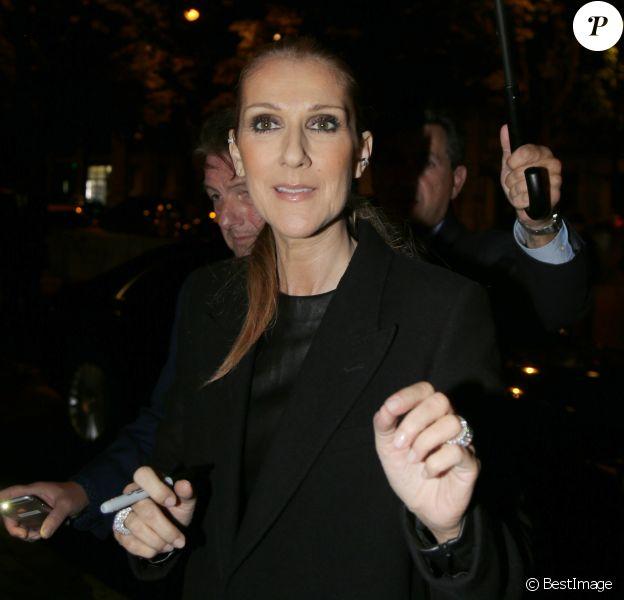 """Exclusif - Céline Dion quitte les enregistrements des émissions """"M6 Music Show 100% tube 2016"""" et """"Le Grand Show"""" pour France 2 au studio de la Plaine Saint-Denis le 15 juin 2016."""