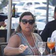 Pierce Brosnan et sa femme Keely Shaye Smith à Malibu, le 3 septembre 2015.
