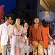 Exclusif - Pierre Casiraghi et sa femme Beatrice Borromeo, en tenues très colorées, se rendent à la dernière soirée organisée pour le mariage de Giovanna Battaglia à Capri, le 11 juin 2016.