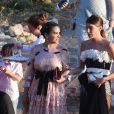 Bianca Brandolini d'Adda au mariage de Giovanna Battaglia et Oscar Engelbert à Capri, Italie, le 10 juin 2016.