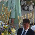 Margherita Missoni au mariage de Giovanna Battaglia et Oscar Engelbert à Capri, Italie, le 10 juin 2016.