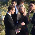 Jessica Hart et son compagnon Stavros Niarchos au mariage de Giovanna Battaglia et Oscar Engelbert à Capri, Italie, le 10 juin 2016.