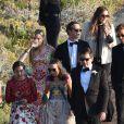 Pierre Casiraghi au mariage de Giovanna Battaglia et Oscar Engelbert à Capri, Italie, le 10 juin 2016.