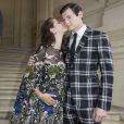 Kaya Scodelario (enceinte) et son mari Benjamin Walker arrivent à l'hôtel Salomon de Rothschild pour assister au défilé Valentino. Paris, le 22 juin 2016. © Olivier Borde/Bestimage