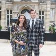 Kaya Scodelario, enceinte, et son mari Benjamin Walkerarrivent à l'hôtel Salomon de Rothschild pour assister au défilé Valentino. Paris, le 22 juin 2016. © Olivier Borde/Bestimage