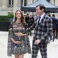 Kaya Scodelario (enceinte) et son mari Benjamin Walker à l'hôtel Salomon de Rothschild pour assister au défilé Valentino. Paris, le 22 juin 2016. © Olivier Borde/Bestimage