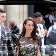 Benjamin Walker et sa femme Kaya Scodelarioquittent l'hôtel Salomon de Rothschild à l'issue du défilé Valentino. Paris, le 22 juin 2016. © Olivier Borde/Bestimage
