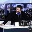 Cyril Hanouna sur le plateau de la radio Europe 1 en direct du Salon International de l'Agriculture à Paris le 1er mars 2015. © Stéphane Lemouton / Bestimage