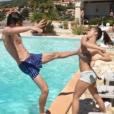 Rayane Bensetti sexy et sportif en Corse