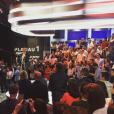 """Coulisses de la fête qui a eu lieu sur le plateau du """"Petit Journal"""" de Canal+. Juin 2016."""