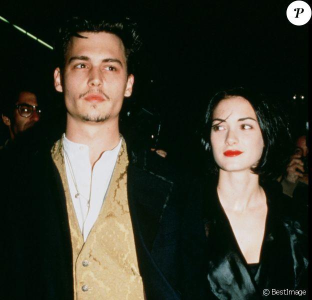 Johnny Depp et Winona Ryder en 1992