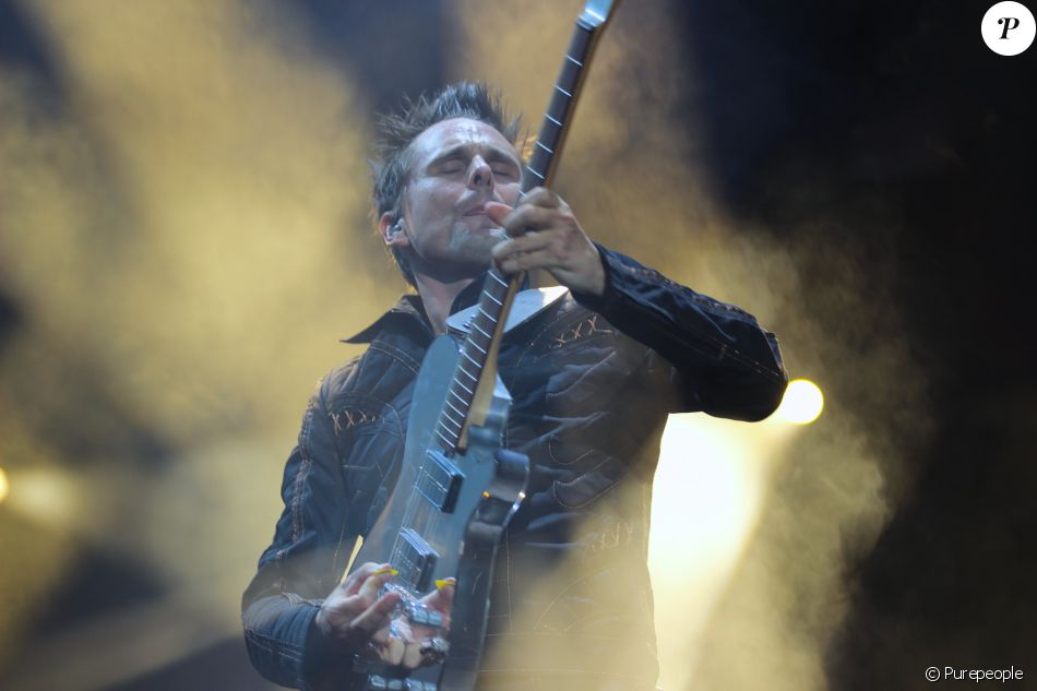 Matthew Bellamy, du groupe Muse à Paris, le 28 juin 2016. © Lise Tuillier