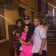 Blac Chyna enceinte, son fiancé Rob Kardashian et ses parents. Photo publiée sur Instagram, le 3 juillet 2016
