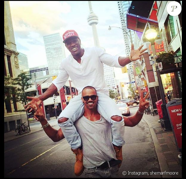 Shemar Moore et un ami à Toronto. Juin 2016.
