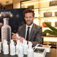 """Yohan Cabaye - Rencontre avec Yohan Cabaye, nouvel ambassadeur du parfum Boss """"Bottled Unlimited """" à Paris, le 27 avril 2016. © Rachid Bellak/Bestimage"""