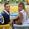 La compagne de Loïc Rémy, Fiona Cabaye - Les femmes des joueurs de l'équipe de France assistent au match France - Equateur à Rio de Janeiro au Brésil le 25 juin 2014.
