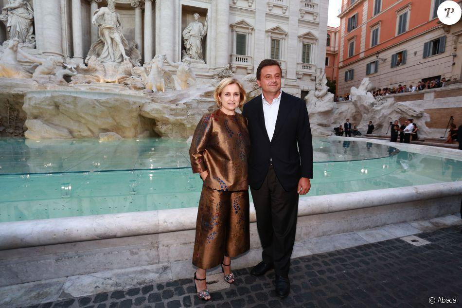 Le ministre italien de l  039 Industrie Carlo Calenda et Silvia Fendi -  Défilé 1d83969cc57