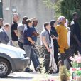 Obsèques de Mouss Diouf, le 9 juillet 2012, à Auriol. Sa fille aînée Tessa, Omar Sy et son épouse, et tous ses proches sont venus lui dire au revoir...